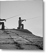 Sentinels - Fishing In The Fog Metal Print