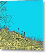 Sentinels Of The Western Deserts Metal Print