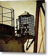 Sentry Box In Alcatraz Metal Print by RicardMN Photography