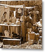 Sepia Historical Reenactment Metal Print