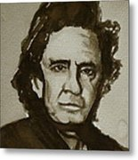 Sepia Johnny II Metal Print