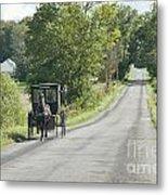 September Roads Metal Print