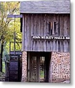 September's Grist Mill Metal Print