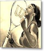 Serena In Sepia Metal Print
