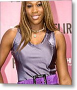 Serena Williams At The Press Conference Metal Print by Everett