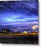 Setting On The Beach Metal Print