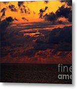 Setting Sun At South Beach Metal Print