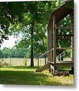 Settlers Cabin Arkansas 4 Metal Print