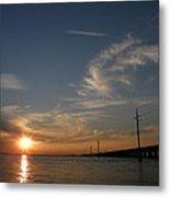 Seven Mile Bridge Sunset Metal Print