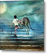 Seven Steps To The Moon Metal Print