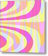 Seventies Swirls Metal Print