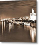 Sevilha By The River Metal Print