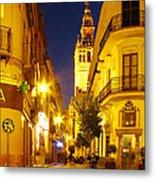 Sevilla At Night Metal Print