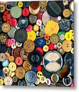 Sewing - Buttons - Bunch Of Buttons Metal Print