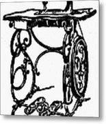 Sewing Machine Metal Print