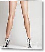 Sexy Long Legs Metal Print