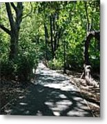 Shaded Paths In Central Park Metal Print