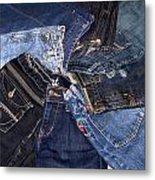 Shades Of Denim Metal Print