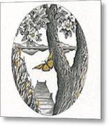 Shades Of Magnolia Metal Print