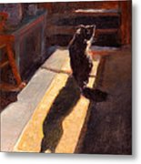 Shadow Cat Metal Print by Rita Bentley