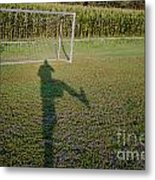 Shadow From A Football Player Metal Print