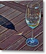 Shadow Glass Metal Print