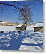 Shadow In The  Valley Forge Metal Print