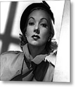 Shadow On The Wall, Ann Sothern, 1950 Metal Print by Everett