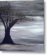 Shadow Tree Metal Print