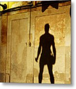 Shadow Wall Statue Metal Print