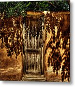 Shadowed Door Metal Print