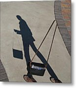 Shadowing Me Metal Print