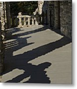 Shadows Cast On The Porch Of Gillette Metal Print