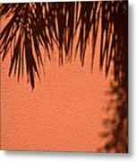 Shadows Of A Palm Metal Print