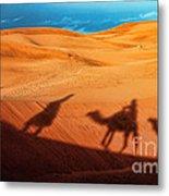 Shadows Of Desert Metal Print