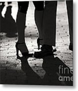 Shadows Of Tango Metal Print by Leslie Leda