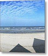 Shadows Utah Beach Metal Print