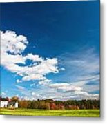 Shaker Village Farm House Metal Print by Robert Clifford