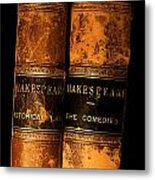 Shakespeare Leather Bound Books Metal Print