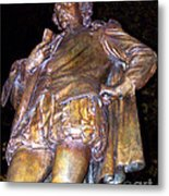 Shakespeare Of Central Park Metal Print