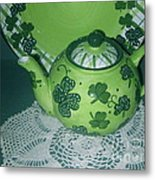 Shamrock Tea Metal Print