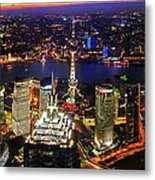 Shanghai Colour Blast Panorama Metal Print