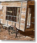 Shaniko Paddy Wagon Metal Print by Cindy Wright