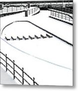 Shapes In The Snow Metal Print