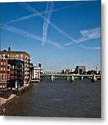 Shard And River Thames Metal Print
