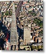 Shard London Aerial View Metal Print