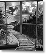 Sharing In The View Metal Print by Scott Allison