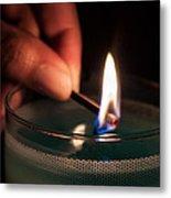 Sharing The Flame Metal Print