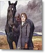 She Chose Me For Her Horse Metal Print