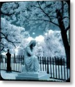 She Dreams In Blue Metal Print
